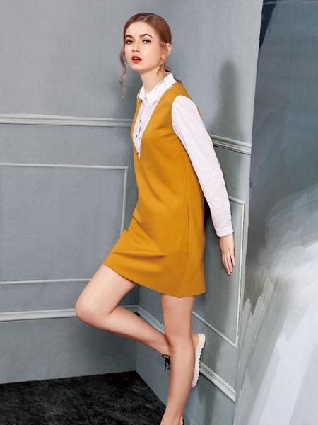 G&F青花语背带连衣裙