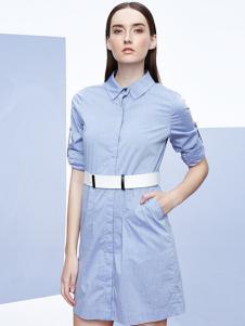 2016珂妮卡女装新款蓝色外套
