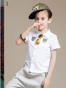 2016爱制造童装新款白色衬衫
