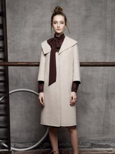 红贝缇女装秋冬新款长款大衣