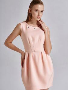 艾露伊LOEY女装秋季新款无袖连衣裙