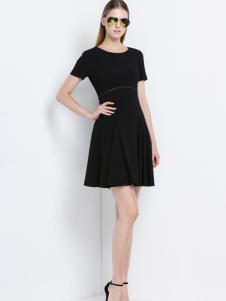 2016宝姿女装新款黑色连衣裙