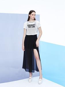 2016珂妮卡女装新款黑色半裙