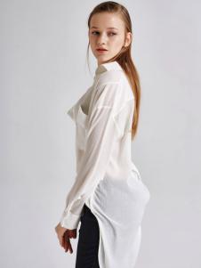 艾露伊LOEY女装秋季新款白色衬衫
