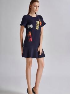 艾露伊LOEY女装短款连衣裙