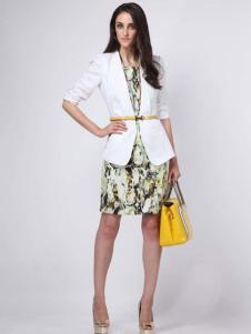 2016高田女装新款白色外套