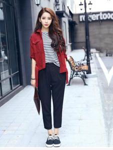 2016印象工坊女装新款红色外套