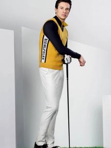 比音勒芬男士休闲黄色T恤