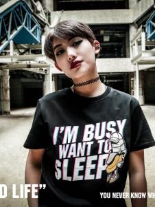2016思锐泰格新款黑色T恤