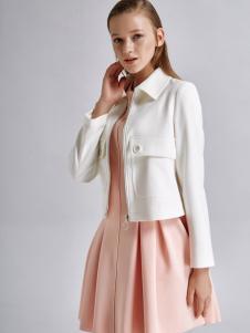 艾露伊LOEY女装秋季新款白色小外套