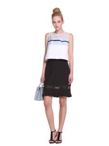 2016欧时力春夏新款黑色半裙