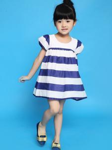Mesamis蒙蒙摩米2016新品蓝白条纹裙