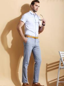 2016渡森男装新款白色衬衫