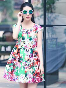 格蕾诗芙印花连衣裙