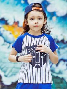 2016爱制造童装新款竖条纹T恤