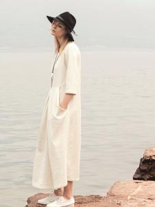 唯简尚女装棉麻连衣裙