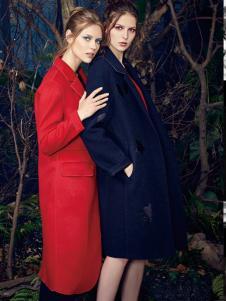 T&W女装秋冬新款长款大衣