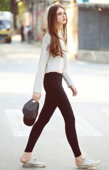 瑞内尔黑色休闲裤