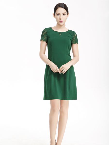 维娜绿色连衣裙