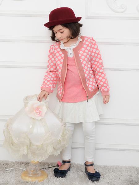 西瓜王子女童粉色外套