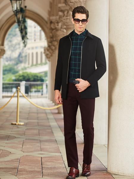 卡度尼男装新款秋冬夹克