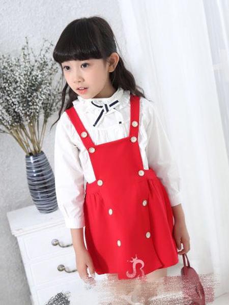 淘淘猫红色背带裙