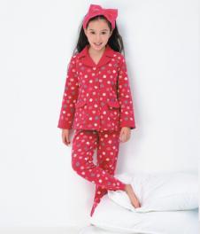快乐城堡童装快乐城堡女童波点睡衣