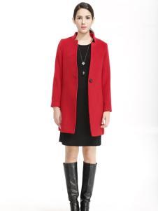 蒙妮尔红色大衣