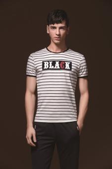 美特·华菲条纹T恤