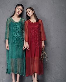 娅玛诗假两件连衣裙