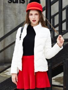 城市衣柜白色羽绒服