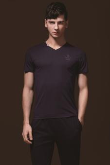 美特·华菲V领T恤