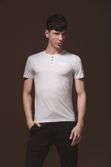 美特·华菲纯色T恤