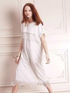 近所物语女装2016新品流苏裙