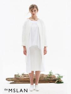 theMSLAN女装2016新品白色长裙