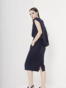 e.15女装2016新品开衩包臀裙