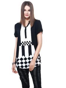 东琳女装2016新品黑白简装