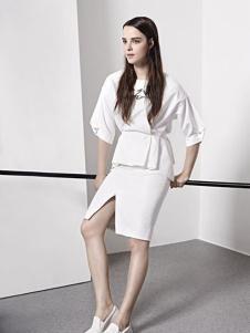 e.15女装2016新品时尚白色套装