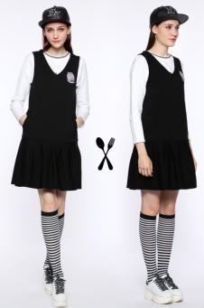 托比小黑2016 黑白连衣裙