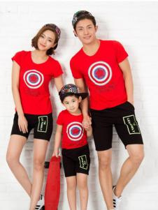 52017亲子装新品红色T恤