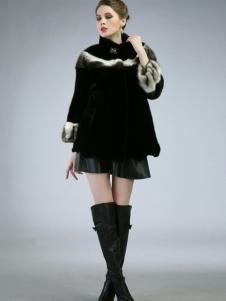图萨尼新品女士皮草大衣