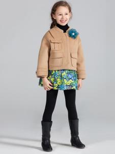 蔚雅乐童装米色短款外套