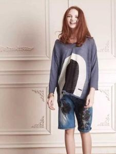 近所物语女装2016新品牛仔中裤