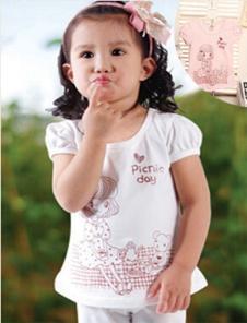 旺贝特女童印花T恤