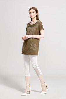 述色女装白色五分裤