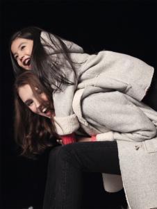 天使舞台亲子毛呢外套