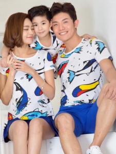 52017亲子装新品动物印花T恤