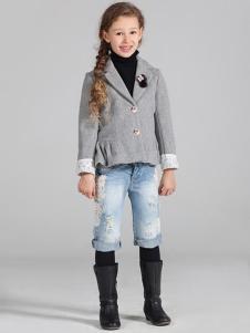蔚雅樂童裝淺灰色外套