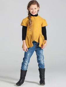蔚雅樂童裝黃色上衣