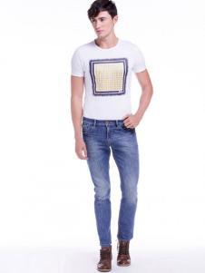 BSO蓝古威男士浅蓝色牛仔裤